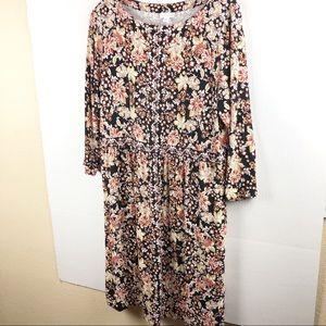 J JILL Floral Dress (M)